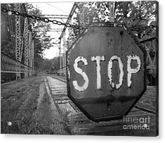 Stop Sign Acrylic Print by Michael Krek