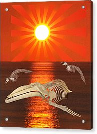 Acrylic Print featuring the mixed media Stop The Slaughter by Eric Kempson