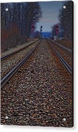 Stop The Train Acrylic Print by Rowana Ray
