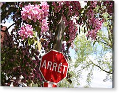 Stop To Smell The Flowers Acrylic Print by Frederico Borges