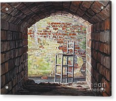 Stopped In Time Acrylic Print by Lynette Cook