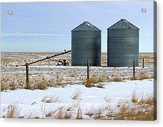 Storage Bins On The Prairie Acrylic Print