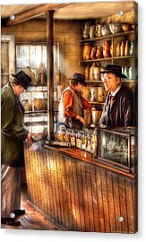 Store - Ah Customers Acrylic Print by Mike Savad