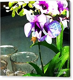 Acrylic Print featuring the photograph Store Bought Flowers by Phil Mancuso
