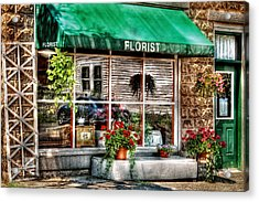 Store - Florist Acrylic Print by Mike Savad