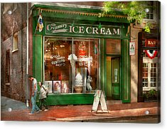 Store Front - Alexandria Va - The Creamery Acrylic Print by Mike Savad
