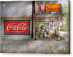 Store Front - Life Is Good Acrylic Print by Mike Savad
