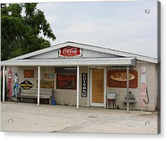 Store Front Of Days Past Acrylic Print by Terry Scrivner