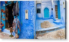 Store In A Street, Chefchaouen, Morocco Acrylic Print by Panoramic Images
