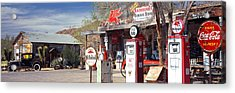 Store With A Gas Station Acrylic Print by Panoramic Images