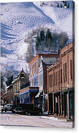 Storefronts, Aspen, Colorado Acrylic Print by Panoramic Images