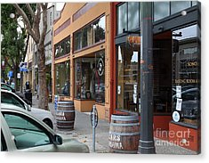 Storefronts In Historic Railroad Square Santa Rosa California 5d25804 Acrylic Print by Wingsdomain Art and Photography