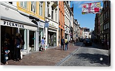 Stores In A Street, Bruges, West Acrylic Print