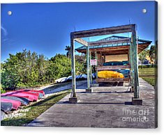 Storing The Canoes Acrylic Print by Ines Bolasini