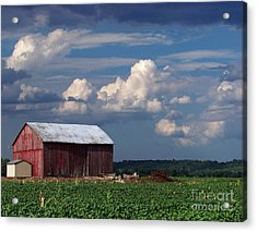 Acrylic Print featuring the photograph Storm Above by Gena Weiser