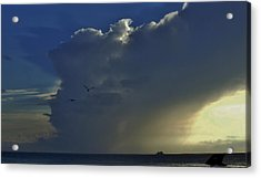 Acrylic Print featuring the photograph Storm Across Delaware Bay by Ed Sweeney