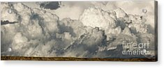 Storm And Sagebrush Desert  Acrylic Print