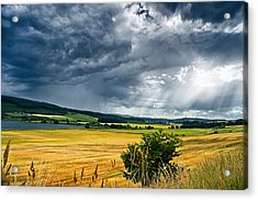 Storm And Sunbeams Acrylic Print