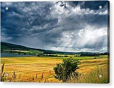 Storm And Sunbeams Acrylic Print