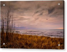 Storm Approaching At Dusk Acrylic Print