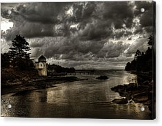 Storm Approaching Acrylic Print by Greg DeBeck