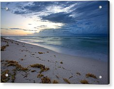 Storm Approaching Miami Acrylic Print by Matt Tilghman