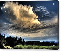 Storm Approaching Acrylic Print by Peter Mooyman