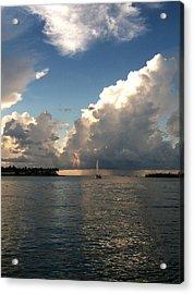 Storm Approaching Acrylic Print by Sharin Gabl