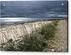 Acrylic Print featuring the photograph Storm Arising Dornoch Beach Scotland by Sally Ross
