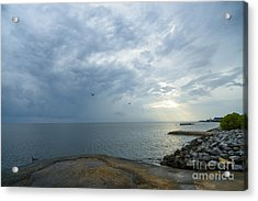 Storm At Big Mouth Acrylic Print by Russell Christie