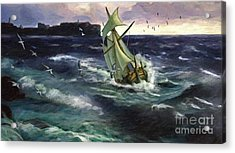 Storm At Dubrovnik Acrylic Print