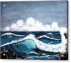Storm At Sea Acrylic Print by Barbara Griffin