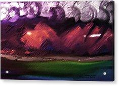 Storm At Sundown Acrylic Print by Lenore Senior