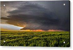 Storm At Sunset Acrylic Print