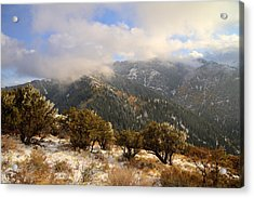 Storm Atop Oquirrhs Acrylic Print by Chad Dutson