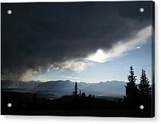 Storm Blows Over Acrylic Print by Jeremy Rhoades