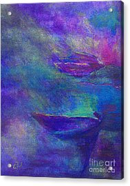 Storm Boats Acrylic Print by Claire Bull