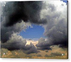 Acrylic Print featuring the photograph Storm Brewing by Tamyra Crossley