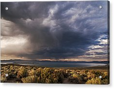 Storm Cell Over Mono Lake Acrylic Print by Cat Connor