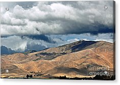 Storm Clouds Floating Above Mountains Acrylic Print