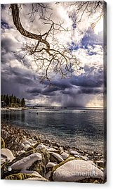 Storm Clouds From Cave Rock Acrylic Print