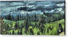 Storm Clouds In The Tetons Acrylic Print