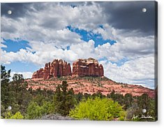 Acrylic Print featuring the photograph Storm Clouds Over Cathedral Rocks by Jeff Goulden