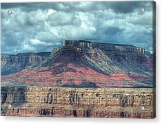 Storm Clouds Over Grand Canyon Acrylic Print by Donna Doherty