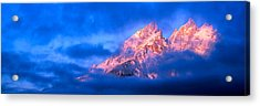 Storm Clouds Over Mountains, Cathedral Acrylic Print by Panoramic Images