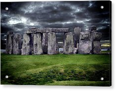 Storm Clouds Over Stonehenge Acrylic Print