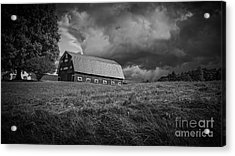 Storm Clouds Over The Farm Acrylic Print