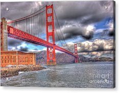 Storm Clouds Over The Golden Gate Bridge 2 Acrylic Print