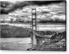 Storm Clouds Over The Golden Gate Bridge Acrylic Print