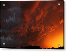 Storm Clouds Over Yorkton II Acrylic Print